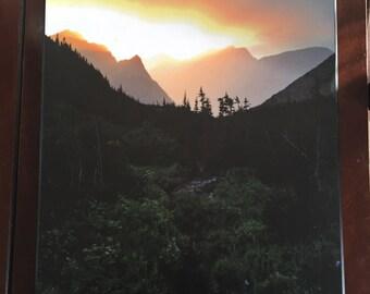 Backcountry Camp Sunset in Glacier National Park