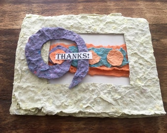 Thanks for the memories- Card/Thank You/ Eco Friendly/Reusable Card/Hand Made Paper Card/Recycled Paper/Pay it Forward