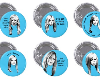 """It's Always Sunny Dee 1"""" Pinback Button Set of 6"""