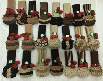 Speedy 30 LV Designer Handbag Crochet Handle Covers with Crocheted Strawberry Louis Vuitton Purse Accessories Handbag Accessory Cases