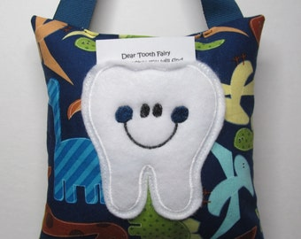 Tooth Fairy Pillow Dinosaurs Ready to Ship