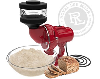 Royal Lee Organics Household Flour Mill - Red
