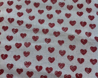 fabric appearance linen heart