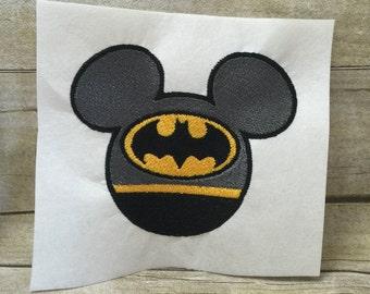 Batman Mickey Emroidery Design, Mickey Batman Embroidery Design