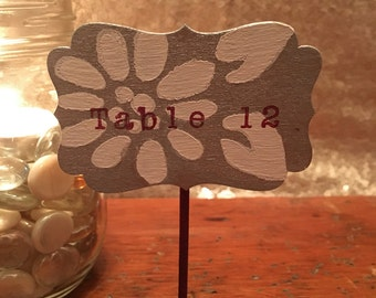 Stamped Table Numbers
