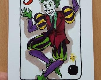 the Joker from 'Batman' postcard print - Villain Deck