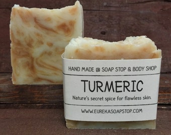 Turmeric Handmade All Natural Hot Process Soap - One Bar
