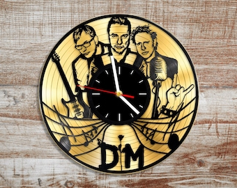 Depeche mode vinyl record wall clock. Music clock