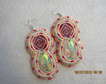 finished bling earrings