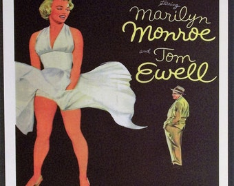 Seven Year Itch Reproduction 12'x18' Retro Movie Poster // Marilyn Monroe //