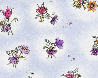 4MCB1 BUTTERFLY HOLLOW FAIRY Tossed Print, In The Beginning Fabrics, Moon Cookie Gallery, Quilt Shop Fabric, Floating Fairies and Flowers