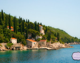 Looking off the Trsteno Arboretum on to a Croatian Villa
