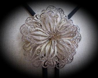 Fabulous filigree flower women's bolo