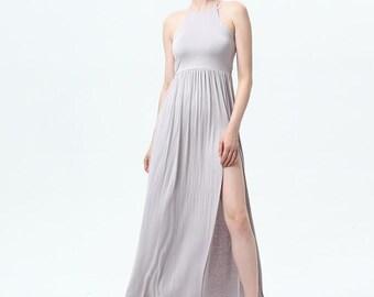 Light Grey Pleated Elegance