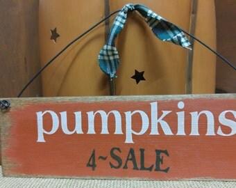 Pumpkins for sale sign, small sign, pumpkins sign, fall sign, fall decor