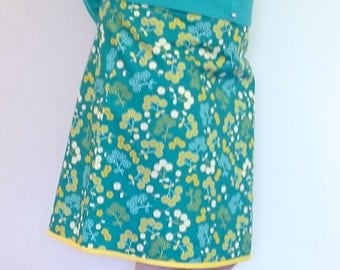 A - line skirt with delicate floral print