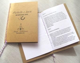 Libretto Messa Carta Kraft & Bakers Twine Viola/Lavanda