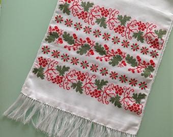 Ukrainian embroidered towel, rushnyk, cross stitch, handmade
