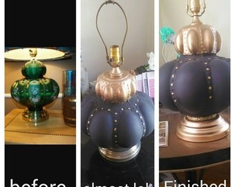 handcrafted antique lamp