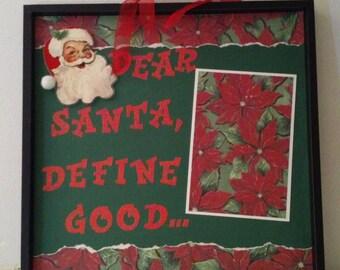 Dear Santa Memory Tray