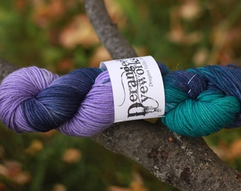 Purple People Eater - Dyed to Order - Hand Dyed Yarn - 100% Merino Wool - Worsted Weight