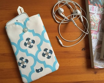 "Smartphone pouch ""Shine"" 15 x 9.5 cm soft inside - smartphone case, smartphone cover or smartphone sleeve"