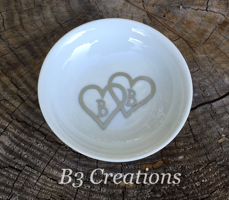 personalized ring dish monogrammed round jewelry dish