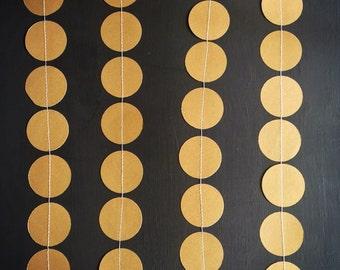 Jumbo Gold Paper Garland