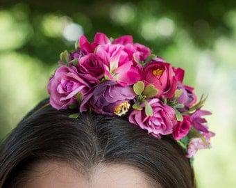 cherry- hair bow
