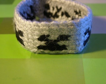The Minecraft Skeleton Wrist Band