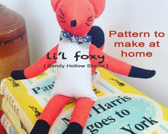 Cute original Li'l Foxy Pattern to make at home
