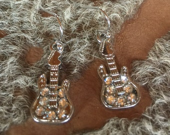 Guitar Bling Earrings
