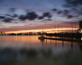Pic Print, Sunset, Water, Reflections Wall Art