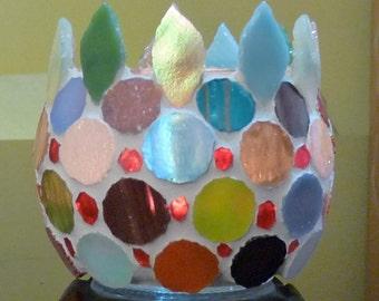 Tealight Holder, Votive Candle Holder, Mosaic Candle Holder, Candles & Holders, Stained Glass Mosaic Votive Holder