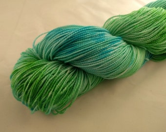 Sock Yarn - Seagrass Colorway - Merino Wool, Nylon Blend - Hand dyed - Knit - Crochet - Fingering Weight