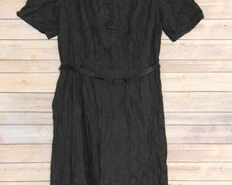 "Vintage Black Eyelet ""Lady Franklin"" Dress"
