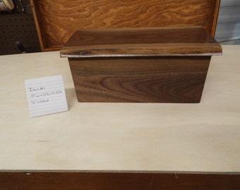 Handmade Walnut Keepsake Box With Natural Edge Lid