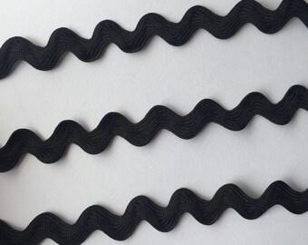 CLEARANCE SALE! Black Wave Woven Ribbon Trim