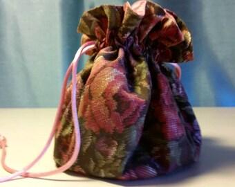 Vintage Flower Jewelry Travel Bag