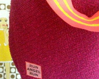 Everyday bag shoulder bag BORDEAUX wool blend neon