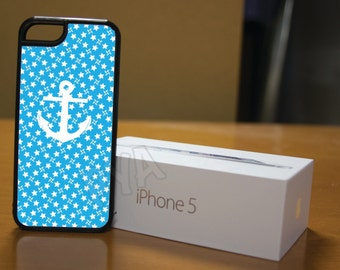 Light Blue and White Stars Nautical Case for iPhone 4/4s, 5/5s, 6/6s, 6/6s Plus, SE and Samsung S3 and S4