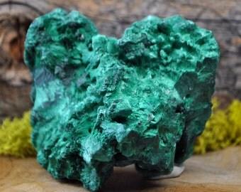 Fibrous Green Malachite Crystal Specimen   - 1240.18