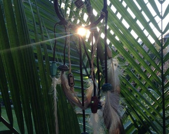 Mini Feathered Dream Catcher