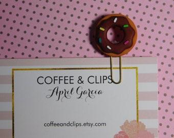 Chocolate Mini Dough Nut Paper Clip
