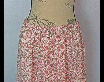 Pink Calf Length Summer Ladies Skirt