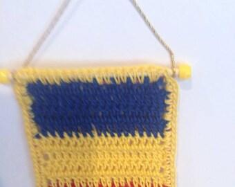 Hanging Romanian Flag