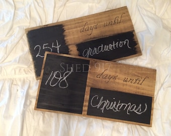 Days Until Sleeps Until Pallet & Chalkboard Sign
