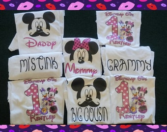Minne mouse birthday shirt