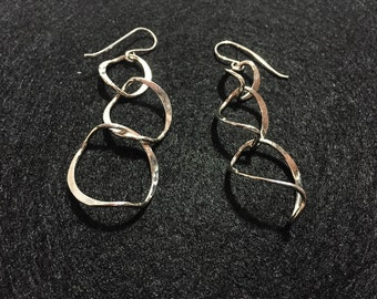 Triple Curved Hoop Earrings