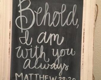 Bible Verse Chalkboard Framed